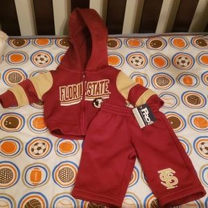FSU baby outfit